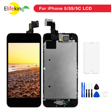 1PCS Alibaba For Apple iPhone 5 5S 5C LCD Display Full Set Touch Screen Digitizer Home button &Front Camera Replacement Parts 10pcs lot for apple iphone 5 5g lcd display digitizer touch screen home button front camera free shipping