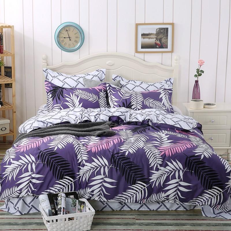 2017 jacquard / Stars 4pcs comforter Bedding sets Cotton bed sheet +duvet cover + pillow case dekbedovertre housse de couette