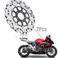 2Pcs Motorcycle Front Brake Disc Rotors For Suzuki Hayabusa GSXR 600 750 1000 GSX R 600