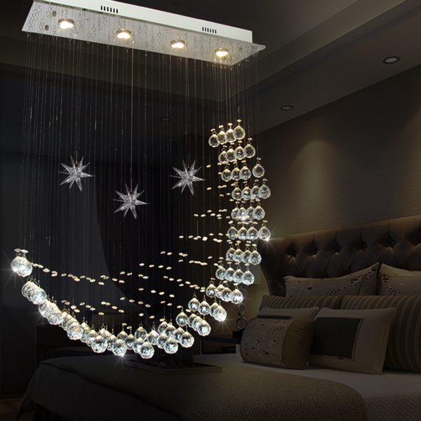 Crystal lamp k9 light moon ceiling light living room in pendant crystal lamp k9 light moon ceiling light living room aloadofball Image collections