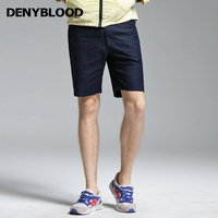 Denyblood Jeans 2017 Estate Mens Pantaloncini di Lino Stretch Chino Navy Blu Capris di Alta Qualità Stretch Bermuda Pantaloni 17666 S