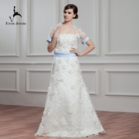 Eren Jossie 2019 New Arrival A Line Wedding Dresses With Hand Made Flowers Fashion Bridal Gown With jacket