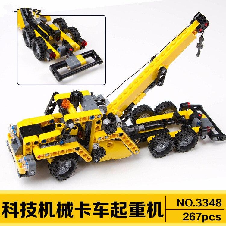 Decool 3348 Высокая техника мини автокран Эвакуатор модель автомобиля строительный блок кирпичи игрушки для детей Подарки DIY