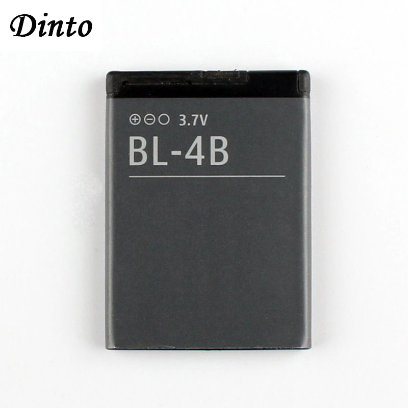 Dinto 1pc 700mAh BL-4B BL4B BL 4B Replacement Cell Phone Battery For Nokia 2505 3606 3608 2670 2660 2630 5000 6111 N75 N76