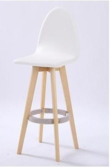 coffee house stools wood leg PU leather seat dining room chairs white color seats computer company furniture stool bar chair