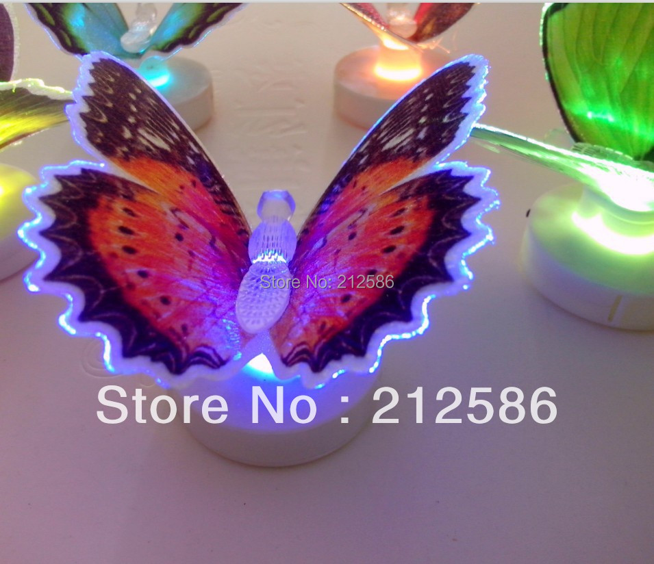Wall Night Light Target : Aliexpress.com : Buy Free shipping 48pcs/lot Colorful Fiber Optic Butterfly Night Light LED ...