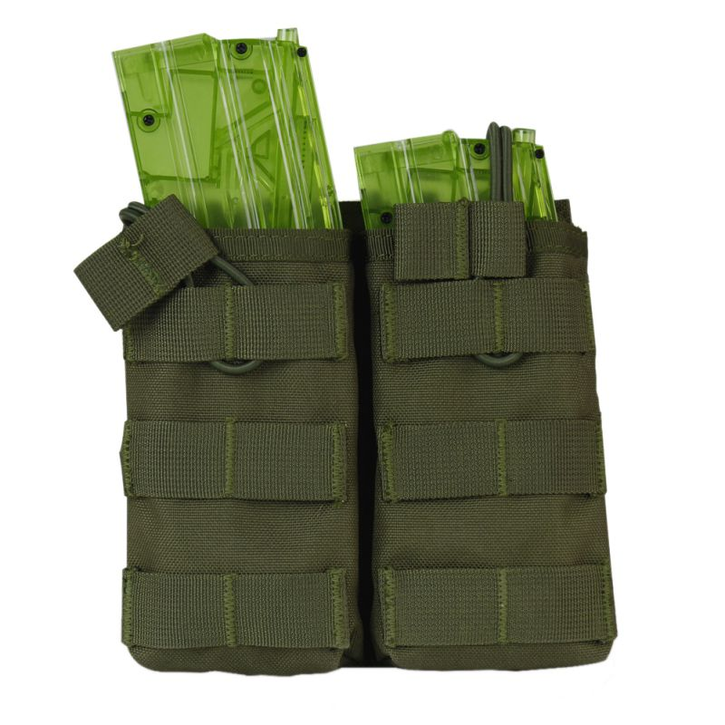 New Tactical MOLLE Double Open Top Mag Pouch M4/M16 Magazine Pouch Airsoft Military Paintball Gear New