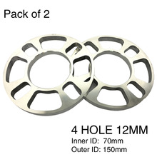 TIROL 2PCS Universal Wheel Spacer 4 hole Disc brake spacer kit 12mm thick wheel spacer T12851GLa Free Shipping