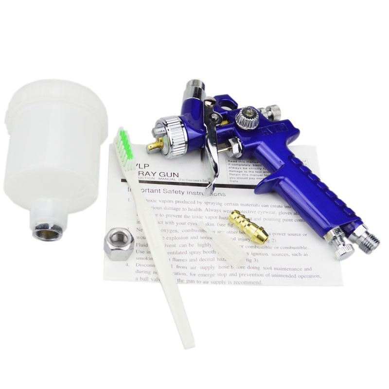 Image 4 - AETool 0.8mm/1.0mm Nozzle H 2000 Professional HVLP Spray Gun Mini Air Paint Spray Guns Airbrush For Painting Car Aerograph-in Spray Guns from Tools on