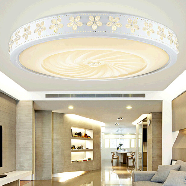 The new Bauhinia living room lights round led ceiling lamps warm bedroom lamp lighting lamp simple modern Ceiling Lights ZA FG67 байдарка stream хатанга 3