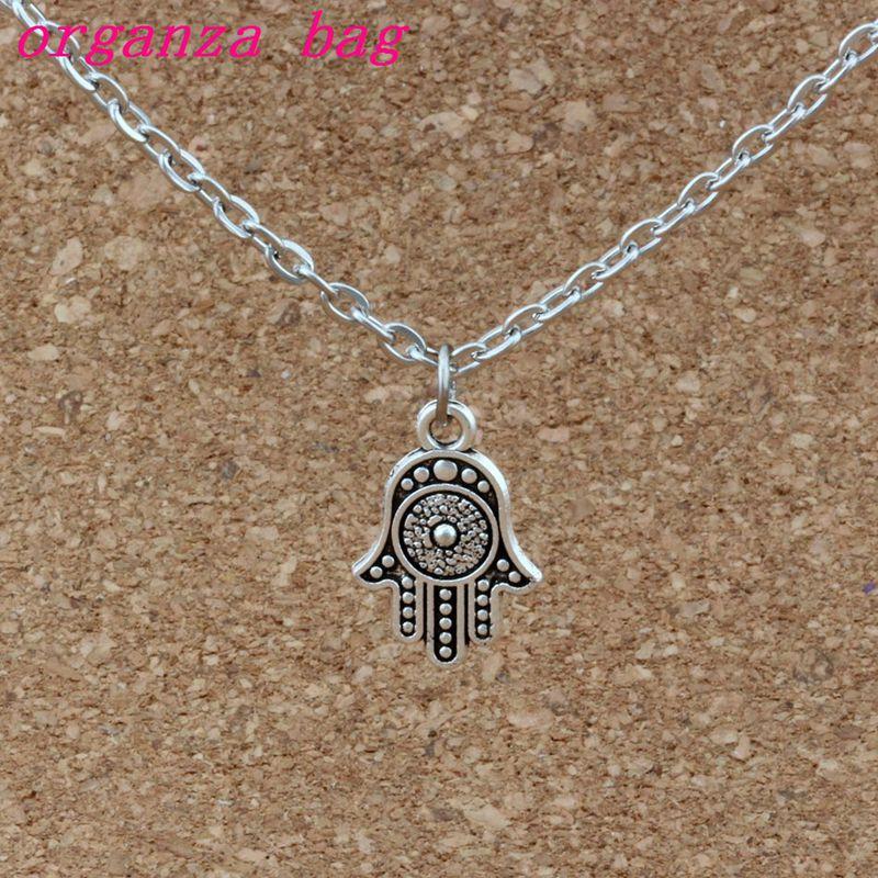 30 × 6 Estilo Coser Tejer Tibetana Aleación Colgante Collar de encanto de plata antigua