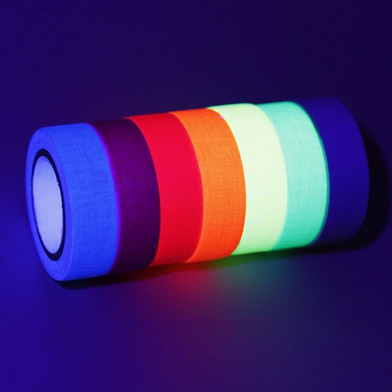 6pcs/Set Fluorescent Tape UV Blacklight Reactive Glow in The Dark Tape Neon Gaffer Tape Safety Warning for Home Decor6pcs/Set Fluorescent Tape UV Blacklight Reactive Glow in The Dark Tape Neon Gaffer Tape Safety Warning for Home Decor