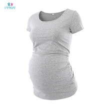 Summer Maternity Pregnancy T-Shirt Cotton Solid Breastfeeding Short Sleeve for Pregnant Women Plus Size Maternity Clothes hot sale autumn velvet warm maternity blouse blouses plus size slim casual elegant bowknot pregnancy t shirt pregnant clothes