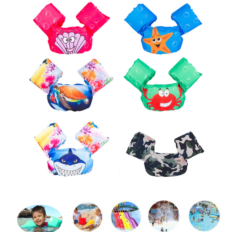 Puddle Jumper Swimming Pool Cartoon Life Jacket Safety Float Vest for Kids Baby ASD88