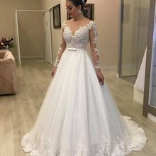 LaRovias Wedding Dress with Sleeves Bridal Gown Dresses For