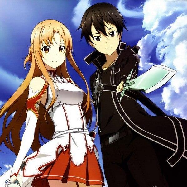 art asuna Sword online kirito and