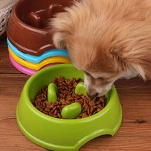 Portable Pet Dog Feeding Food Bowls Puppy Cats Slow Down Eating Feeder Dish Bowl Prevent Obesity Dogs Accessories