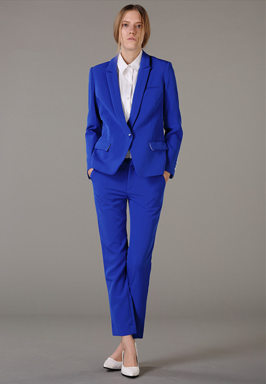 Las Pant Suits Women Business Formal Office Work Wear Custom Made Royal Blue Elegant Ol Style Uniform Pantsuits In From S Clothing