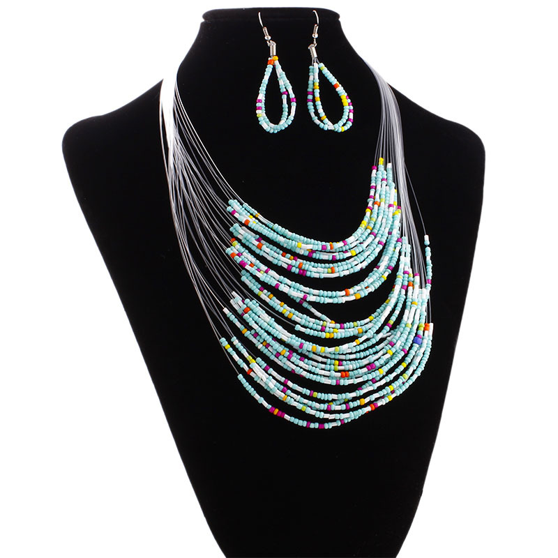African Jewelry Set 2017 Nigerian Wedding Jewelry Sets for Brides Party Rope Bridal necklace earring Jewelry sets