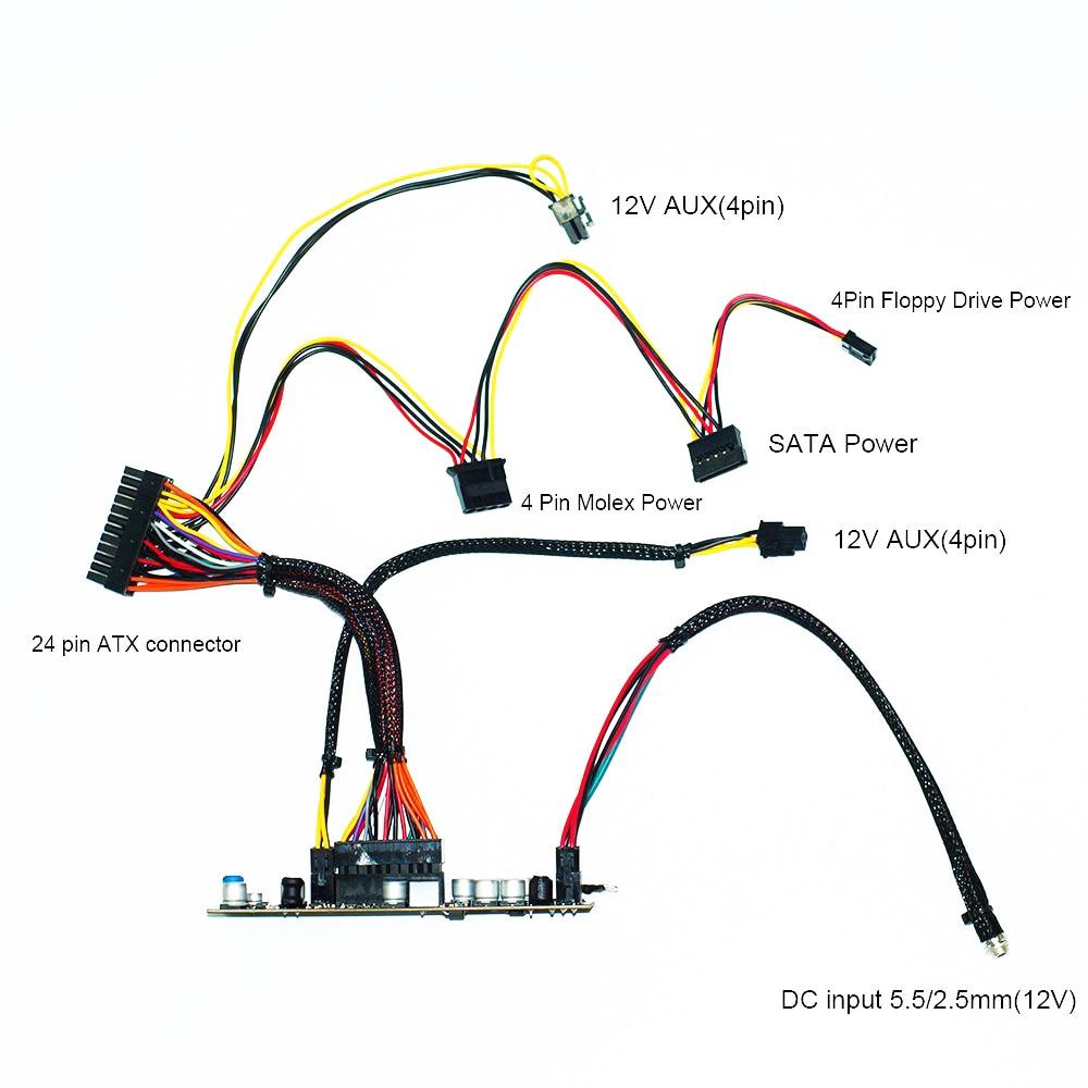 medium resolution of dc atx pico psu 12 v 300 w pico atx interruptor miner a psu 24pin mini itx dc coche atx fuente de alimentaci n de la pc para computadora en fuentes de
