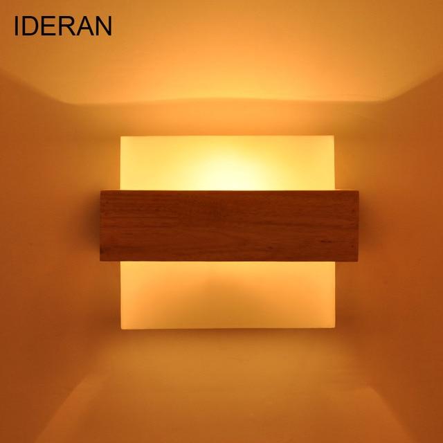 IDERAN Moderne Wandleuchte Lampen Wohnzimmer Schlafzimmer Haus Dekorative  Holz Wandleuchten E27 AC 110 V/220
