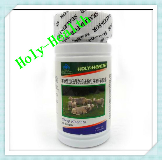 Holy-Health 10 bottle/lot sheep lamb placenta capsule anti freckle beauty products 500mg*60 capsule health green nature food free shipping
