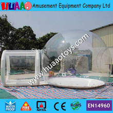 Free shipping 6*4m outdoor camping inflatable transparent bubble tent(2 CE/UL blower+repair kit)