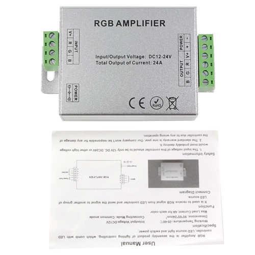 DC12V-24V taśmy Led RGB wzmacniacz 24A wzmacniacz wzmacniacz mocy sterownik konsoli dla 5050 3528 taśmy Led RGB u nas państwo lampy światła
