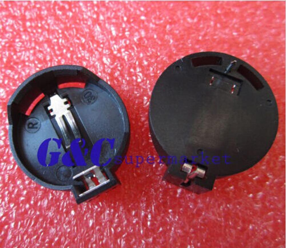 100PCS CR2025 <font><b>2025</b></font> Butt Coin Cell <font><b>Battery</b></font> Socket Holder Case ROHS