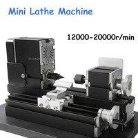 Mini Lathe Machine 12000r/min 110V 240V Saw Workbench Area 90*90mm Mini Lathe Tool Metal Plate