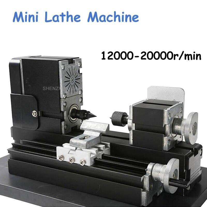 Mini Lathe Machine 12000r/min 110V 240V Saw Workbench Area 90*90mm Mini Lathe Machine Tool Metal Plate