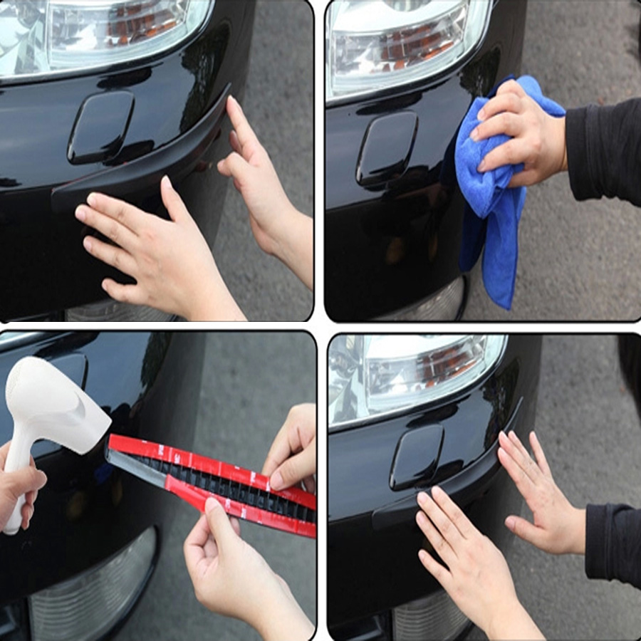 Image 5 - Car Bumper Protector Strips Guard Corner Anti collision Protective Trim bar Black White Grey Car Accessories 2pcs-in Styling Mouldings from Automobiles & Motorcycles