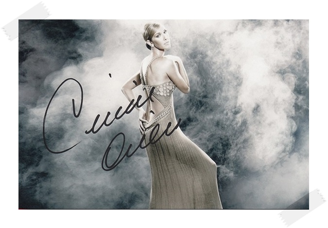 Celine Dion autographed  signed original photo 6 inches  collection freeshipping 012017
