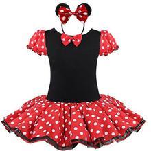 2017 Nouveau Minnie Mouse Enfants Filles Partie Robe Fantaisie Costume Ballet Filles Tutu Robe + Oreille Cheveux Clip 2 4 6 7 8 Ans Filles Robe