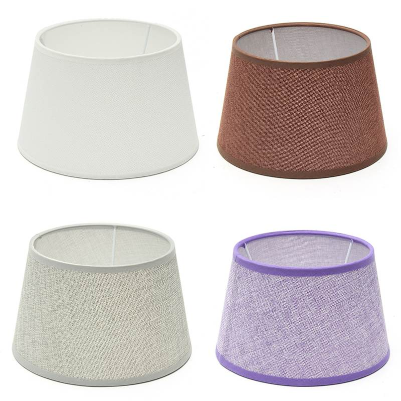 cotton textured pvc linen fabric lamp shade home room table light ceiling lamp shades modern lamp
