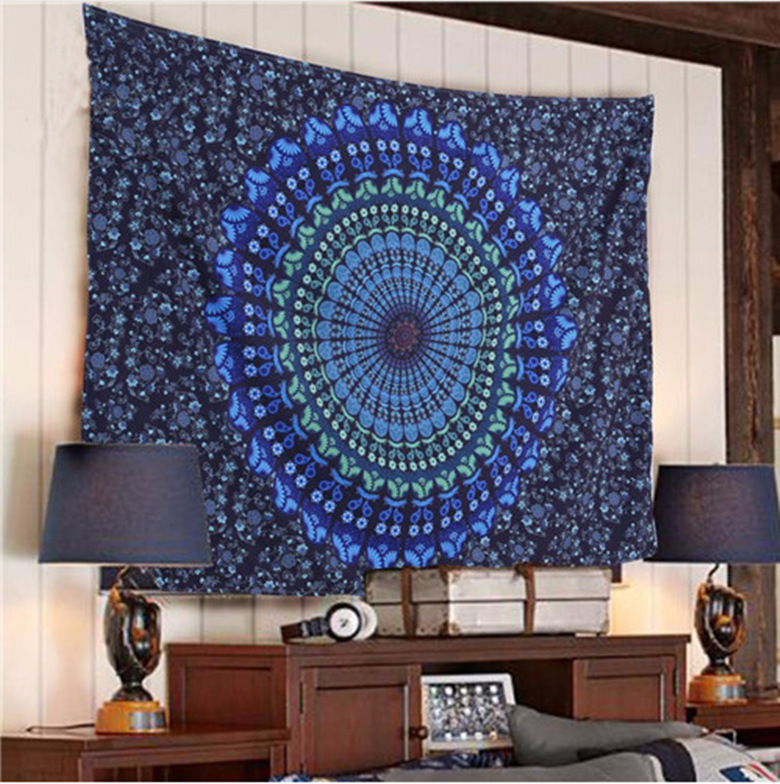 Indian Mandala Tapestry Hippie Wall Hanging Tapestries Beach Throw Towel Yoga Mat Gypsy Bedspread Home Decor Belgium Bedspreads In From