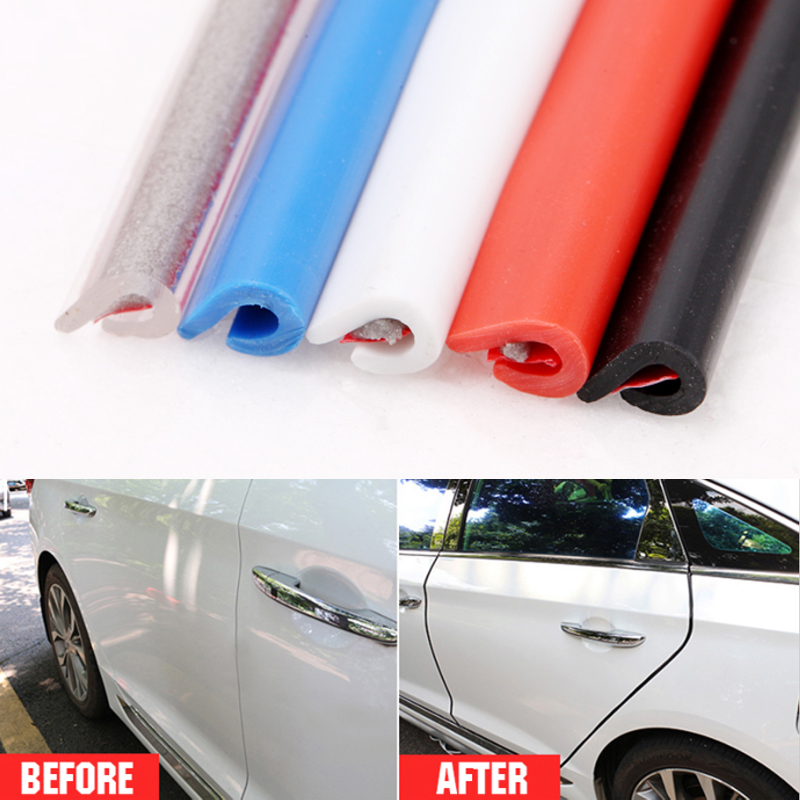 5m Universal Rubber Car Door Edge Guards Trim Molding Protection Strip Scratch Protector For Opel Honda BMW Toyota VW Ford usb