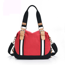 New fashion design cute canvas women messenger bag girls handbag portable shoulder bag cross-body bag