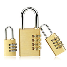 High Quality Padlock Solid Brass Lock Digit Combination Password Secret Code for Gym Outdoor Locker Case Copper Stainless Steel friends f12 stainless steel combination lock silver