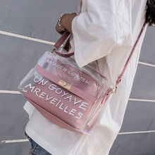 цены Brand Design Women Transparent Bag Clear PVC Jelly Small Tote Messenger Bags Female Crossbody Shoulder Bags