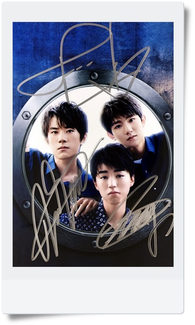 signed TFBOYS  autographed group photo 6 inches  freeshipping 08201702 signed tfboys autographed group photo 6 inches freeshipping 08201703