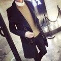 Первоначальный владелец Осенний Ветер взрыв моделей Корейских Тонкий Мужчины ветровка большой лацкане косой молнией куртка пальто прилив