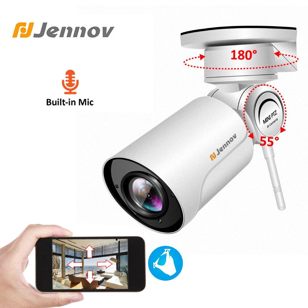 Jennov PTZ IP CCTV Caméra Extérieure 1080 p Caméra De Surveillance Extérieure Sans Fil Enregistrement Audio WIFI Sécurité Cam 2MP HD P2P 4 x Zoom