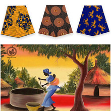 2019Excellent design cotton wax block printed in fabric african 100%cotton hot sale high quality V-L078-V-L082