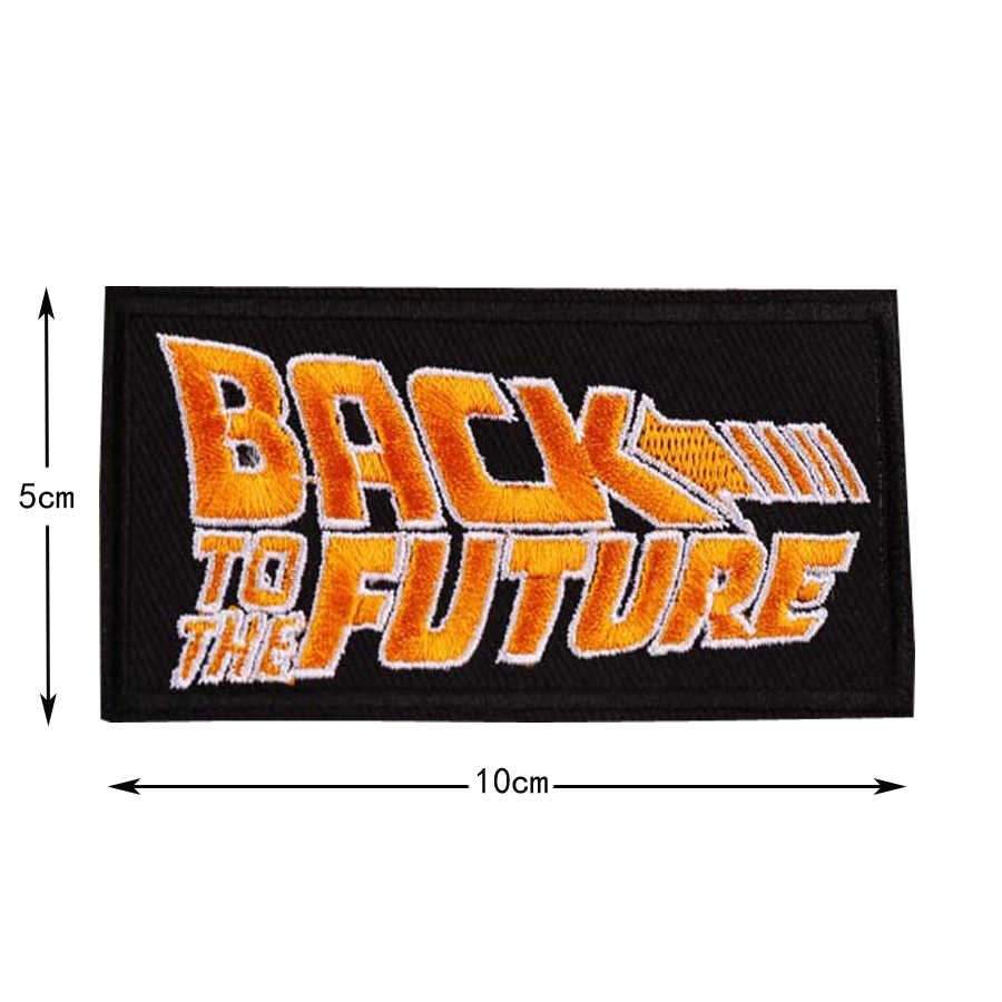 Back to the Future Ricamato Patch per La Macchina del Tempo Delorean Silhouette 88 distintivo della Zona di applique