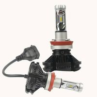2Pcs H8 12V 50W 6000K Led Headlights Car Bulb Ultra Bright Fog Lamp Headlamps Refitted Distant