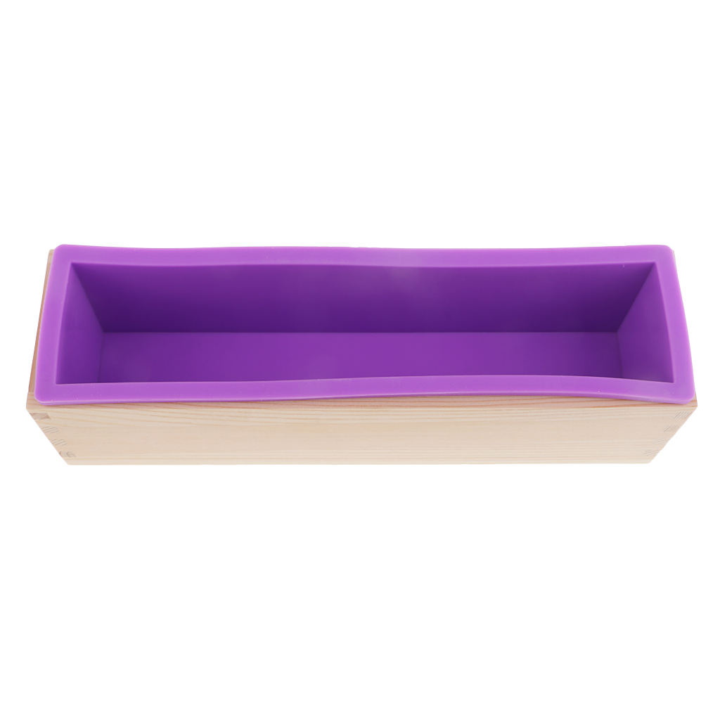 900ml Rectangle Silicone Soap Mold with Lid DIY Tool for Baking Ice Chocolate,Family Household Tool