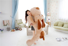 stuffed toy huge 140cm brown prone dog plush toy doll,soft hugging pillow,birthday gift Xmas gift d2499