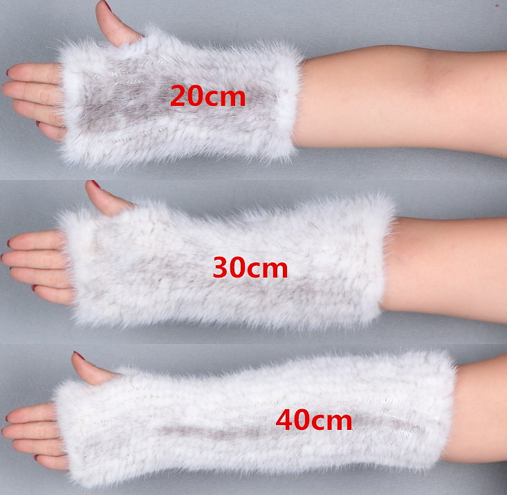 Apparel Accessories Clever Real Mink Fur Winter Gloves Womens Fashion Fox Fur With Mink Fur Mittens For Colorful Warm Thick Feminine Mittens Up-To-Date Styling