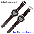 Quality genuine leather watch band 22mm brown simple bracelet quick release for Garmin Fenix chronos